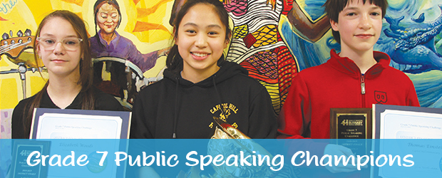 At a special event held at the Centre for Dialogue at Byrne Creek Community School in March, the District's top eight Grade 7 orators delivered their speeches to an […]