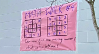 "Students in Byrne Creek Community School's math club, called ""The Radicals,"" have been leaving math challenges outside for younger students in one of their feeder schools: Stride Avenue Community […]"